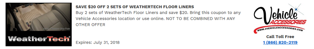 VEHICLE ACCESSORIES WEATHERTECH