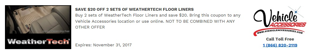 Weathertech com coupons